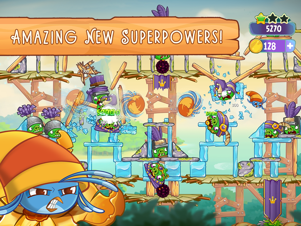 Screenshots of Angry Birds Slingshot Stella for iPhone