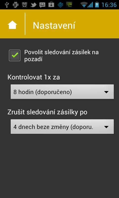 Sledovátko.cz- screenshot