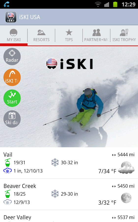 iSKI USA - screenshot