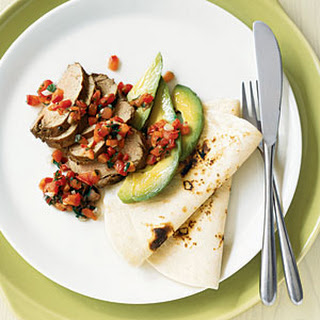Peppered Pork Tenderloin with Tomato-Mint Salsa