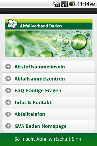 Abfallverband Baden- screenshot