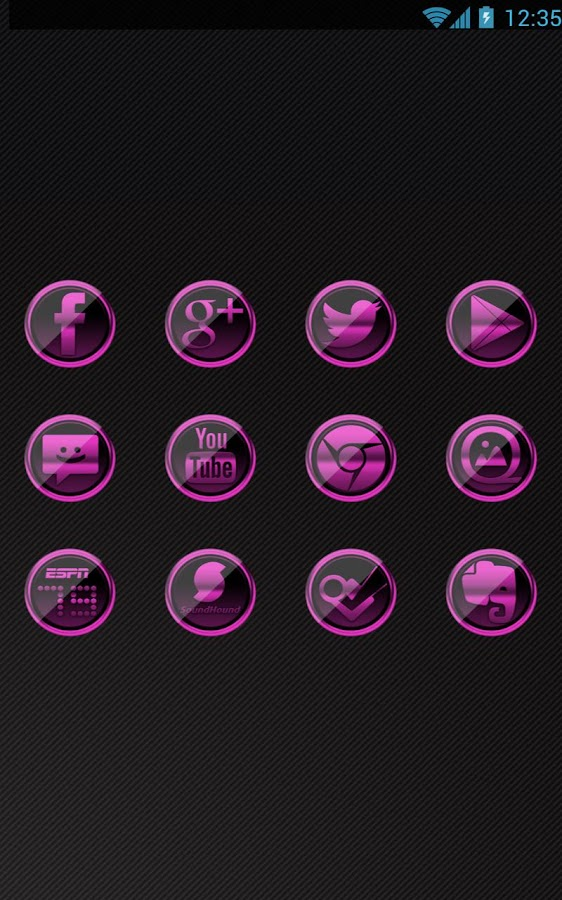 Pink Platinum - Icon Pack- screenshot