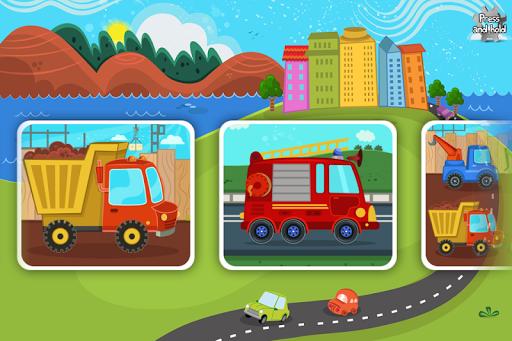 适于幼儿的汽车和卡车拼图