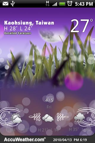 9s-Weather Theme+ (Wonderland) - screenshot