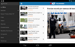 Screenshot of Telemundo 47