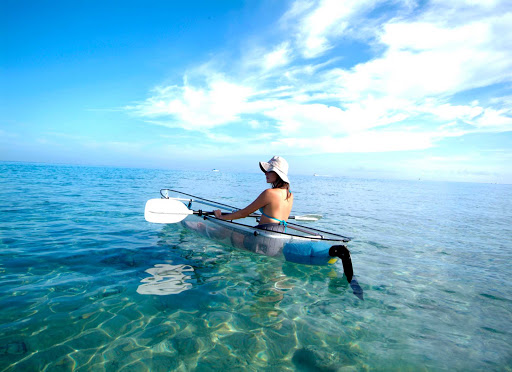 A kayak trip in the crystalline waters around Cozumel, Mexico