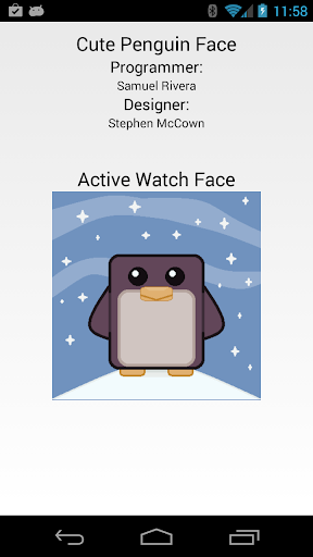 Cute Penguin Face for Wear