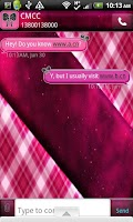 Screenshot of GO SMS THEME/GirlyPlaidCPK