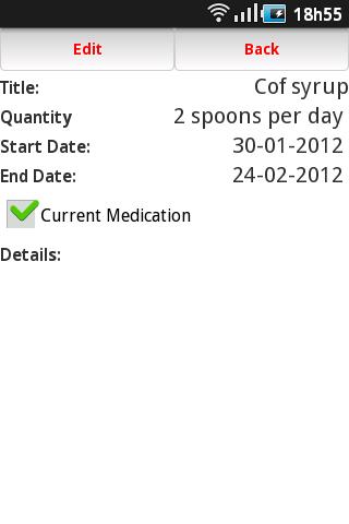 Medical ID- screenshot