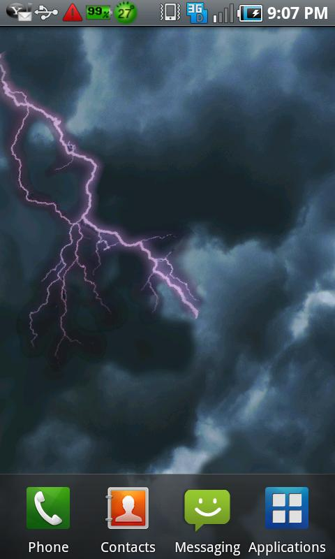 Lightning Live Wallpaper Free - screenshot