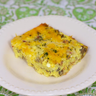 Cheesy Amish Breakfast Casserole.