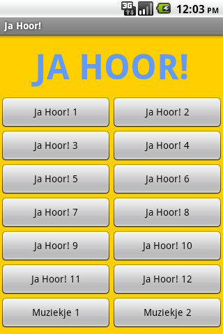 Ja Hoor! - screenshot