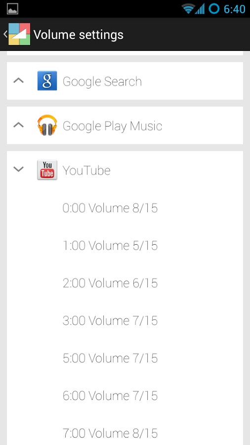 App Volume - screenshot
