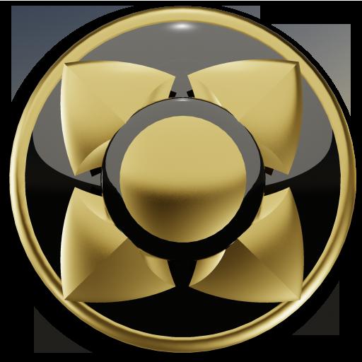 3D GOLD BLACK Next Launcher