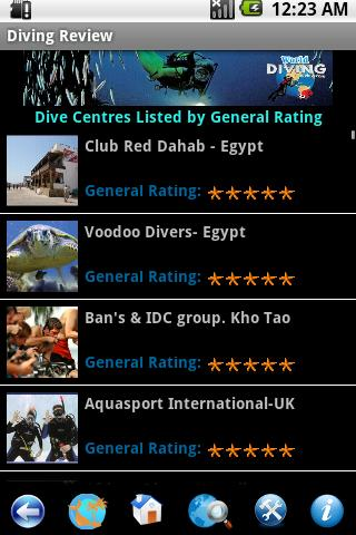 World Diving Review- screenshot