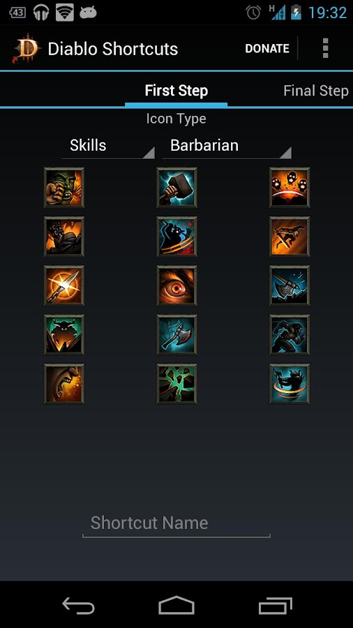 Diablo Shortcuts - screenshot