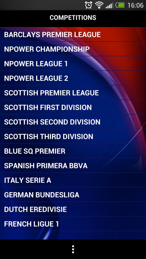 Sky Sports Live Football SC - screenshot