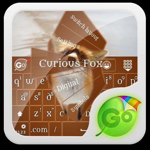 好奇的狐狸 GO Keyboard Theme 個人化 App Store-愛順發玩APP