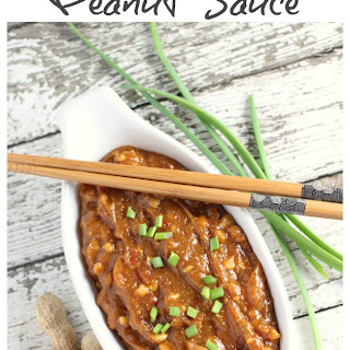Three Ingredient Asian Style Peanut Sauce