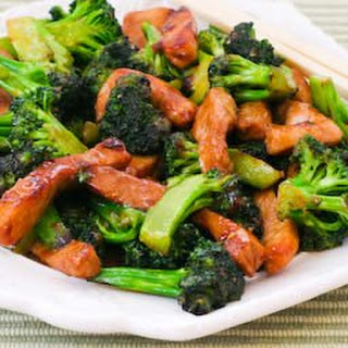 Pork and Broccoli Stir-Fry with Ginger and Hoisin Sauce.