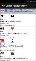 Screenshot of College Football Scores (NCAA)
