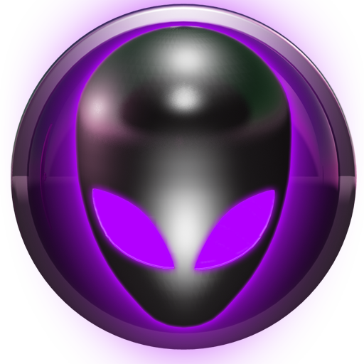poweramp skin alien purple