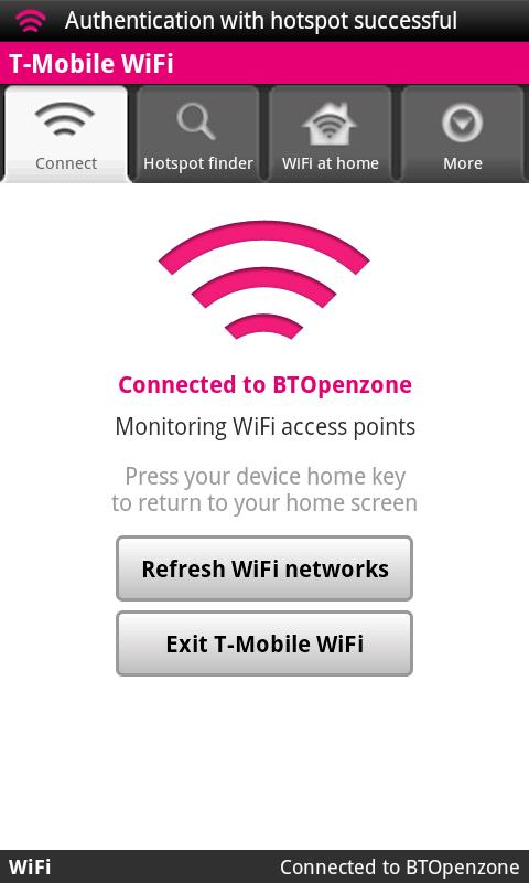 T-Mobile WiFi - screenshot