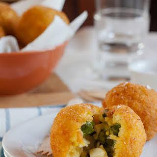 Arancine With Asparagus, Hard-boiled Egg And Taleggio.
