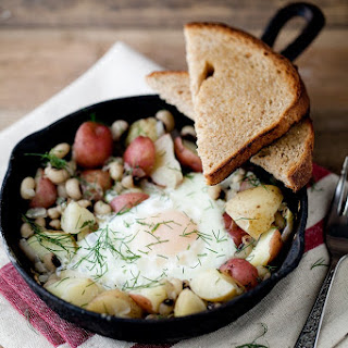 Black-Eyed Peas and Dill Potato Skillet.