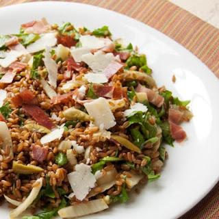 Warm Whole Grain Salad With Fennel, Arugula, Prosciutto, and Pecorino