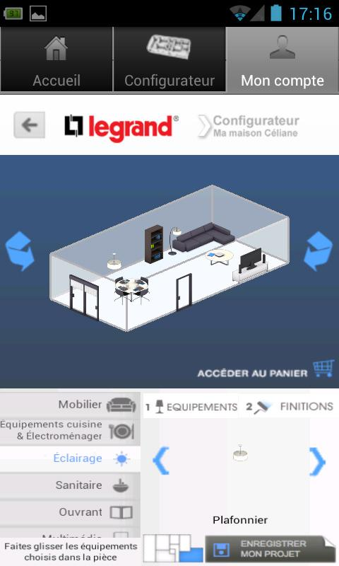 Configurateur- screenshot
