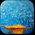 Rainy autumn icon