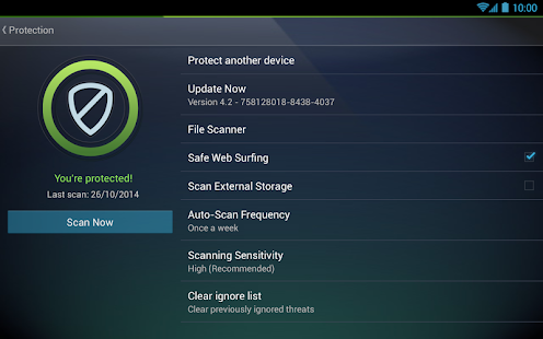 Tablet AntiVirus Security PRO- screenshot thumbnail