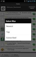 Screenshot of Benchmark Forum