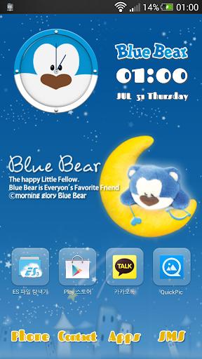 Blue bear Go launcher theme
