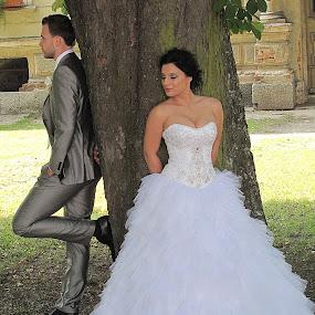 Waiting for a kiss  by Vladimir Krizan - Wedding Ceremony