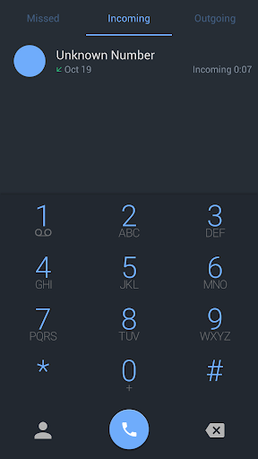 ExDialer Theme - Night Blue