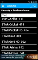 Screenshot of DTH Television Guide India