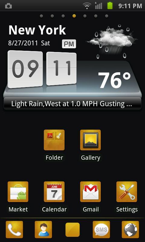 GO Launcher EX Theme BlackGold- screenshot