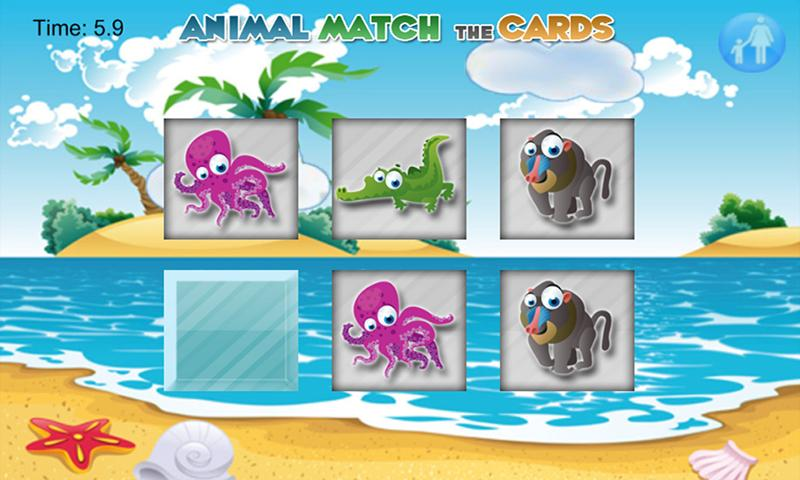 Match Cards Game for Toddlers - screenshot