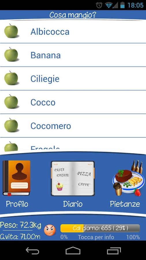 Diario Alimentare - screenshot