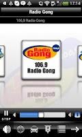 Screenshot of Radio Gong