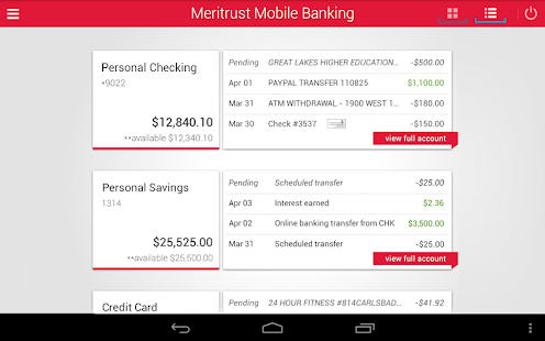 Meritrust CU Mobile Banking - screenshot thumbnail