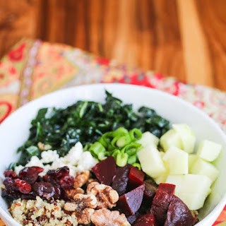 Quinoa Beet Kale Apple Walnut Goat Cheese Salad
