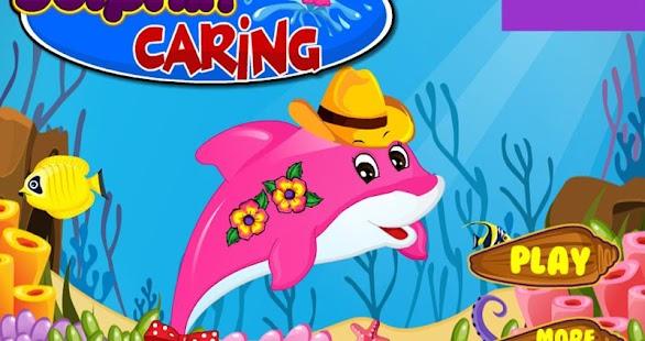 海豚關懷遊戲的孩子