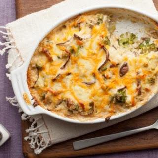 Cheesy Mushroom and Broccoli Casserole.