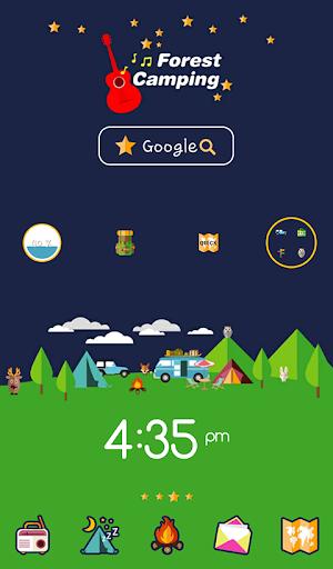 숲속 캠핑 도돌런처 테마