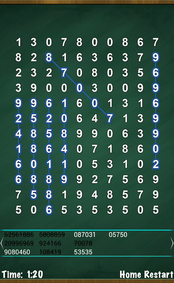 Number Search Puzzle - screenshot