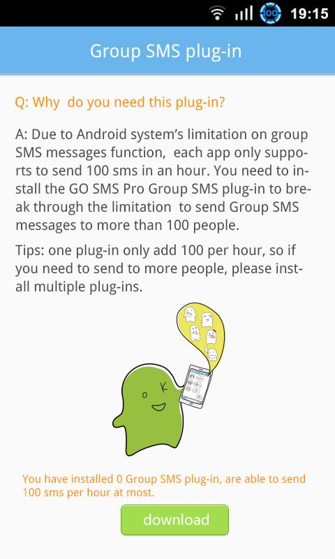 GO SMS Group sms plug-in 3 - screenshot