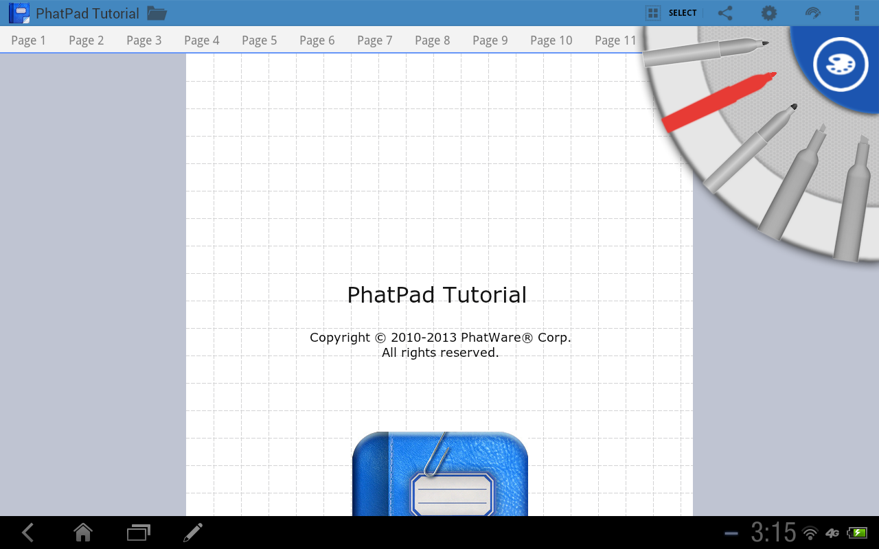 PhatPad- screenshot